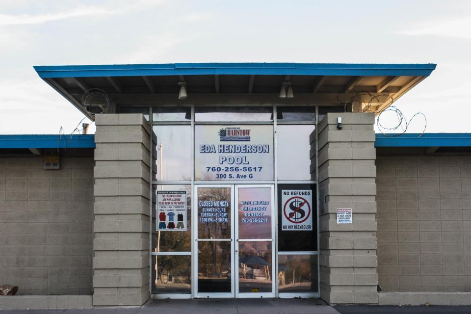 Eda Henderson Pool entrance