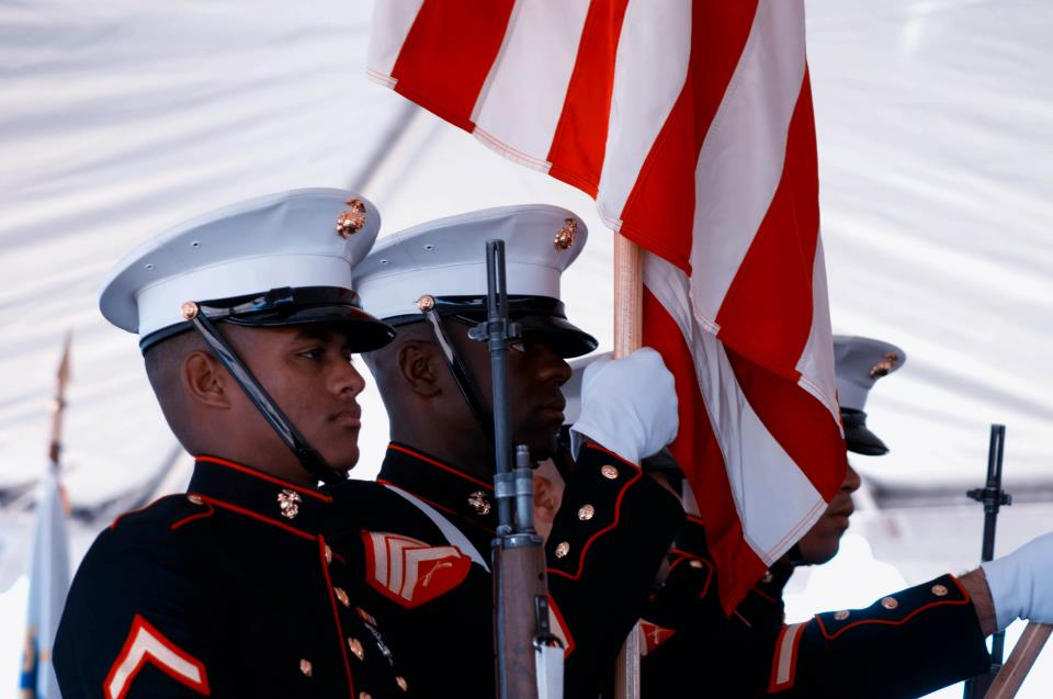 USMC Colorguard at Lenwood Grade Separation Ceremony