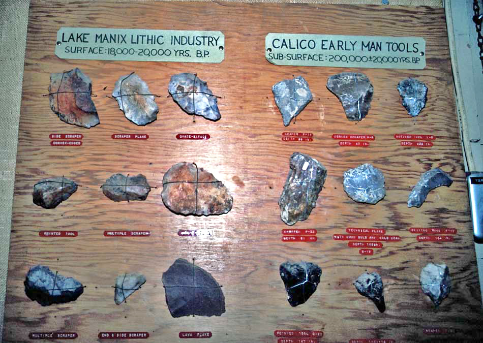 Early Man Site Yermo ca The Calico Early Man Site is