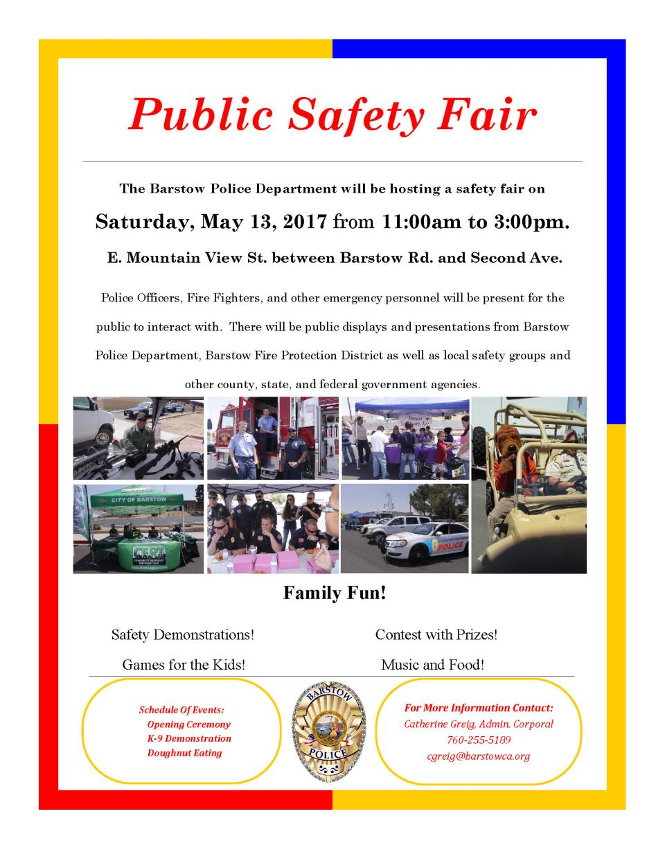 Public Safety Day Flyer 2017