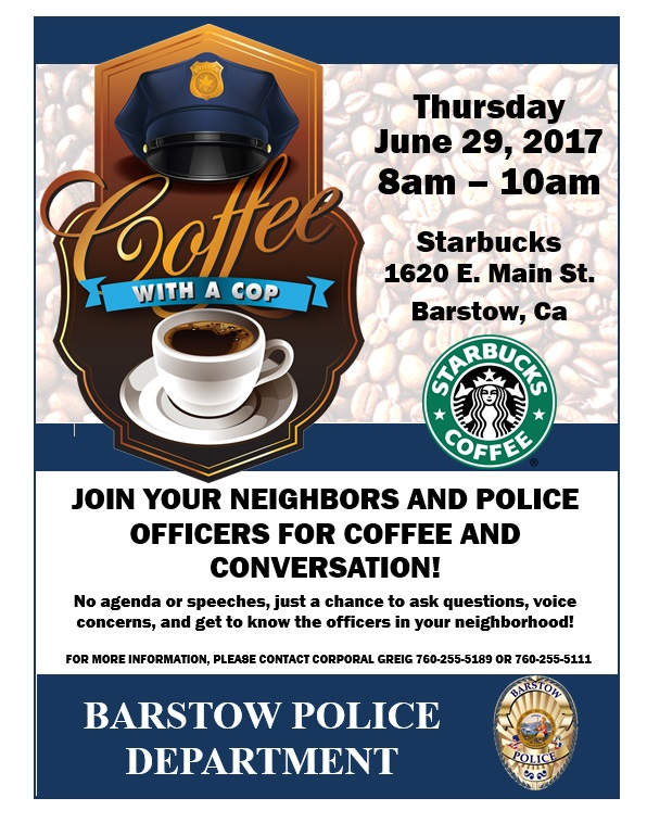 Coffee with a Cop 06-29-17