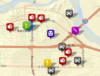 Crime Mapping   City of Barstow