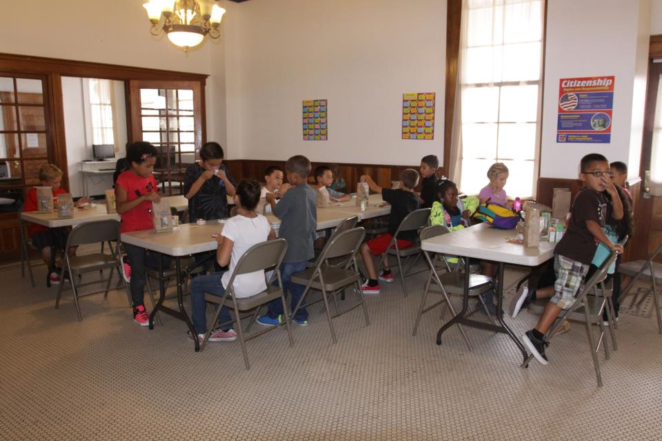 PAL Kids enjoying lunch with friends