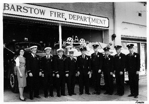 Classic Barstow Fire Department group photo