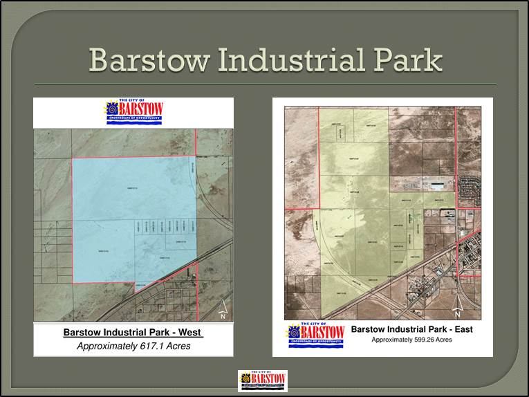 Barstow industrial park
