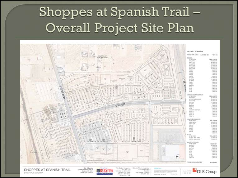 Shoppes at Spanish Trails Overall Plan