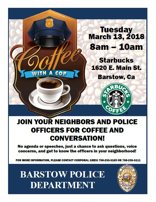 Coffee with a Cop 03-13-18